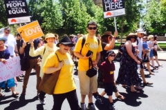 Marching for refugees